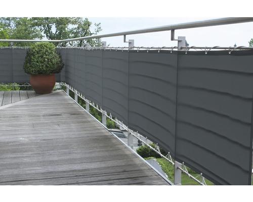 Balkongskydd 65x300cm antracit