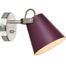 Vägglampa MARKSLÖJD Tribe 1x40W burgundy/stål E14 l 150mm