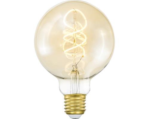 COTTEX LED-lampa Curly filament amber E27, 4W 250lm stepdim
