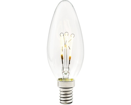 COTTEX LED-lampa Curly filament kron klar E14, 4W 250lm stepdim