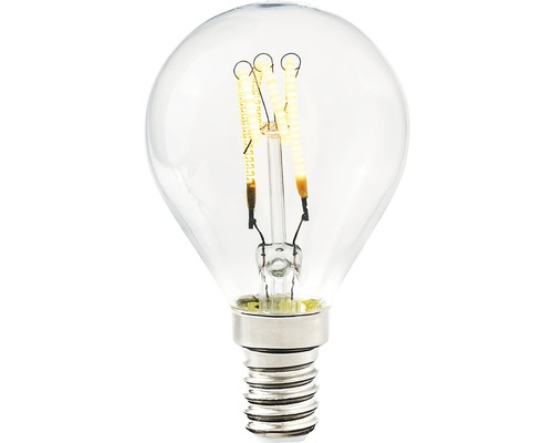 COTTEX LED-lampa Curly filament klot klar E14, 4W 250lm stepdim