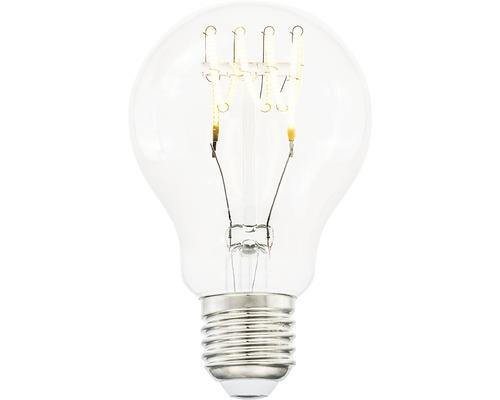 COTTEX LED-lampa Curly filament klar E27, 4W 300lm stepdim