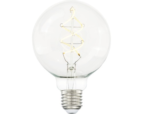 Klotlampa COTTEX LED Curly filament klar E27 4W 300lm stepdim