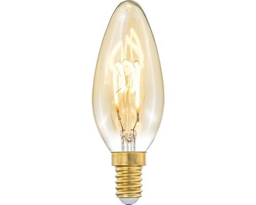 COTTEX LED-lampa Curly filament amber kron E14, 4W 150lm stepdim