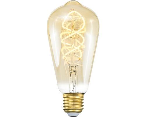 COTTEX LED-lampa Curly filament amber edison E27, 4W 250lm stepdim