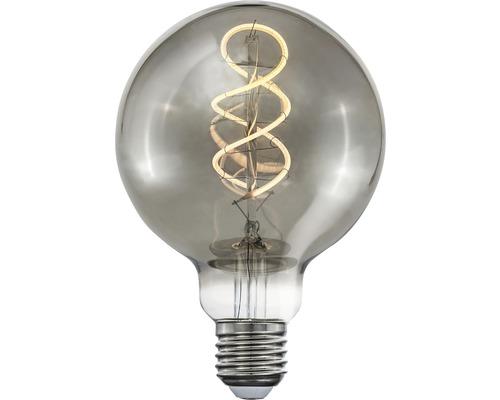 Klotlampa COTTEX LED Curly filament smoke E27 4W 150lm stepdim