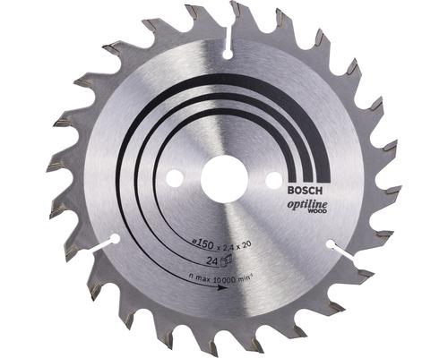 Cirkelsågklinga BOSCH Optiline Wood Ø 150x20mm Z 24