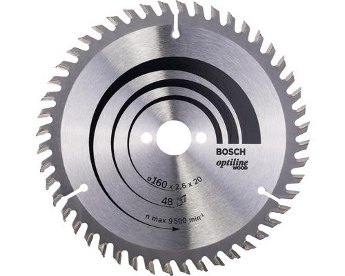 Cirkelsågklinga BOSCH Optiline Wood Ø 160x20mm T 48