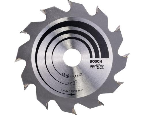 Cirkelsågklinga BOSCH Optiline Wood Ø 130x20mm Z 12
