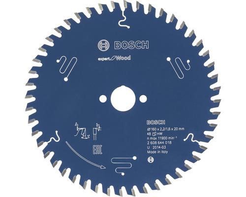 Cirkelsågklinga BOSCH Expert for Wood Ø 160x20x2,2mm Z 48