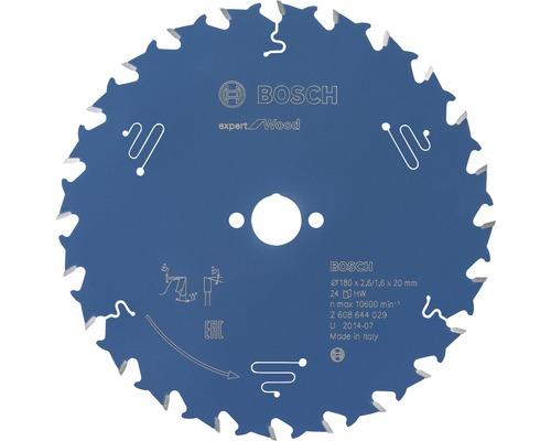 Cirkelsågklinga BOSCH Expert for Wood Ø 180x20mm Z 24