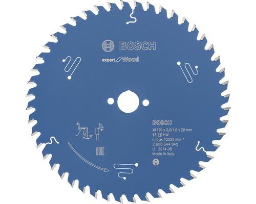 Cirkelsågklinga BOSCH Expert for Wood Ø 190x20mm Z 48