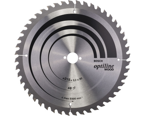 Cirkelsågklinga BOSCH Optiline Wood Ø 315x30mm Z 48