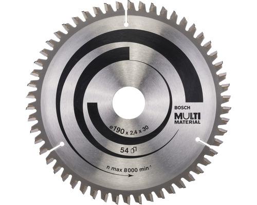 Cirkelsågklinga BOSCH Multi Material Ø 190x30mm Z 54