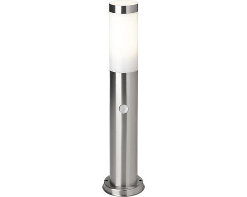 Grindlykta LALUMI Dody med sensor 10W E27 H 450mm IP44 rostfritt stål/vit