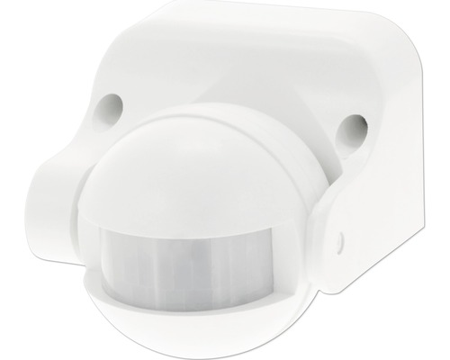 Rörelsedetektor IP44 180° vit