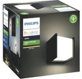 Vägglykta PHILIPS Hue Fuzo White & Color Ambiance 15W 1150lm 2700K varmvit 130x140mm svart - kompatibel med SMART HOME by hornbach