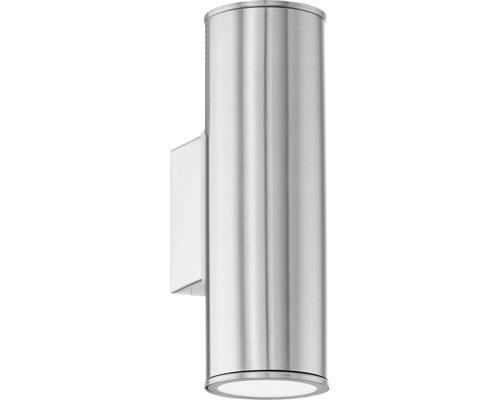 Vägglykta EGLO Riga LED IP44 2x5W 2x400lm 2700-6500K varmvit-dagsljusvit rostfritt stål H200mm