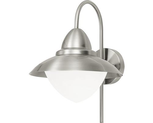 Vägglykta EGLO Sidney LED IP44 9W 806lm 2700-6500K varmvit-dagsljusvit rostfritt stål/vit Ø270mm