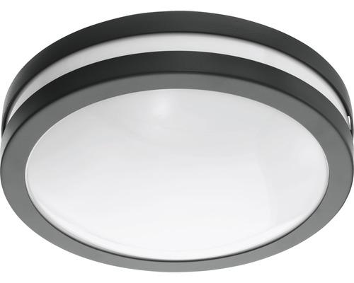 Vägglykta EGLO Locana LED IP44 14W 1400lm 3000K varmvit antracit/vit H260mm