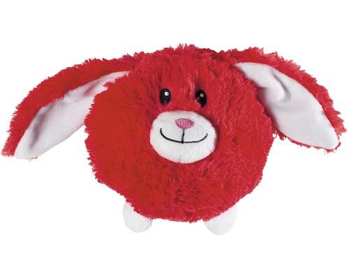 Hundleksak KARLIE plysch Flappy hare 16cm röd