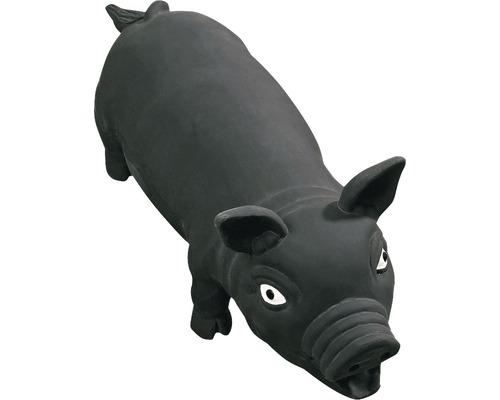 Hundleksak KARLIE latexgris 33cm svart