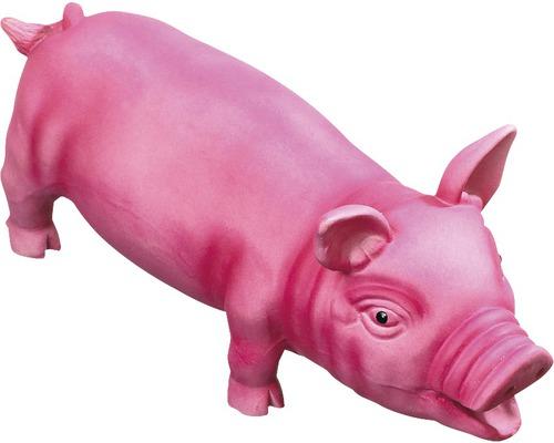 Hundleksak KARLIE latexgris 33cm rosa