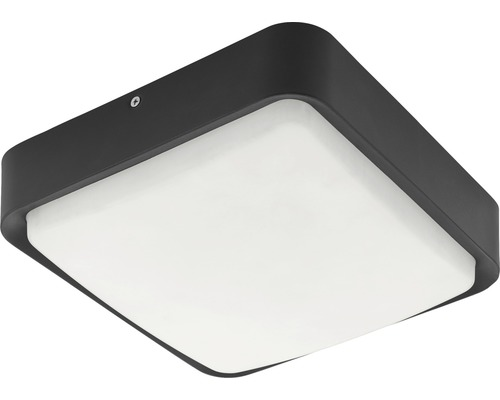 Utomhusplafond EGLO Piove LED IP44 14W 1400lm 3000K varmvit svart/vit H250x250mm