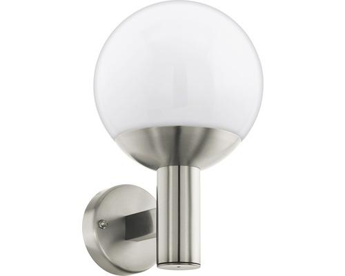 Vägglykta EGLO Nisia LED IP44 9W 806lm 3000K varmvit rostfritt stål/vit Ø220mm