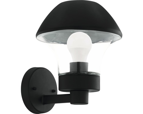 Vägglykta EGLO Verlucca LED IP44 9W 806lm 3000K varmvit svart/transparent H265mm