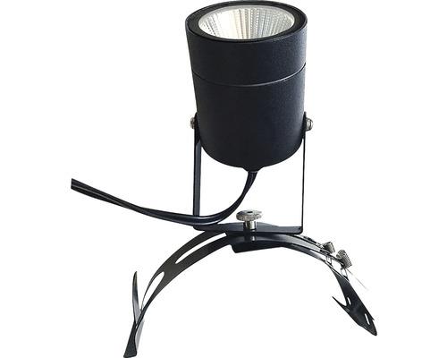 Spotlight LED 4,5W IP54 svart för hängränna