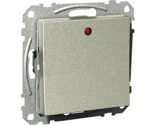 Vipptryckknapp SCHNEIDER Exxact trapp 1-pol med LED metallic, 1820545