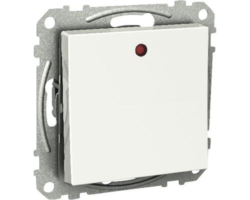Vipptryckknapp SCHNEIDER Exxact med LED och separat lampkrets vit, 1820151