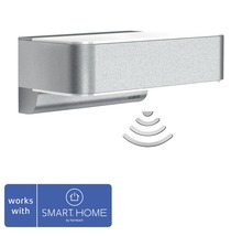Vägglykta STEINEL LED sensor Z Wave Smart Friends 12,5W 612lm 3000K varmvit silver IP44