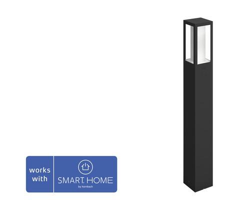 Pollare PHILIPS Hue Impress White & Color Ambiance 8W 1200lm H 770mm svart - kompatibel med SMART HOME by hornbach