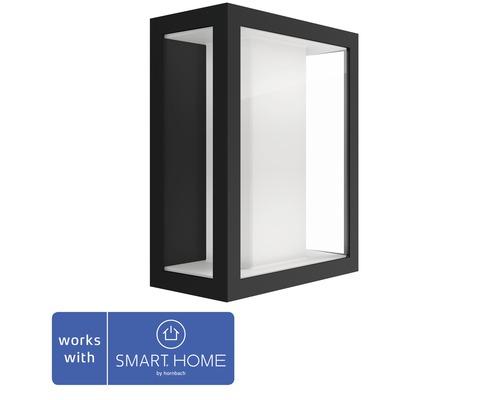 Vägglykta PHILIPS Hue Impress White & Color Ambiance 8W 1200lm 240x190mm svart - kompatibel med SMART HOME by hornbach