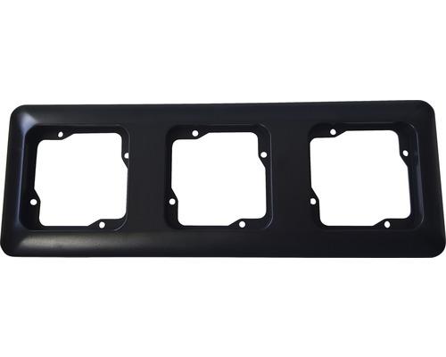 Ram 3-fack ROTH LANGE Basic svartgrå