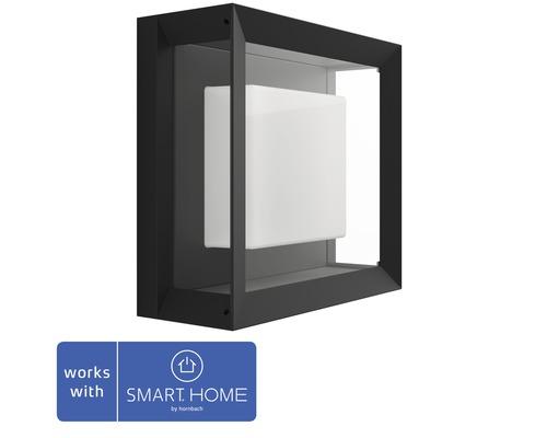 Vägglykta PHILIPS Hue Econic White & Color Ambiance 15W 1150lm 115x260mm svart - kompatibel med SMART HOME by hornbach