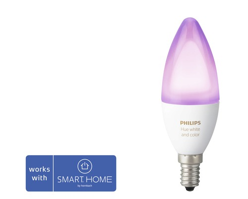 Kronlampa PHILIPS HUE White & Color Ambiance RGBW 6,5W 470lm 2200-6500K E14 dimbar - kompatibel med SMART HOME by hornbach