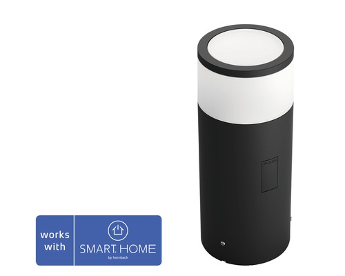 Pollare PHILIPS Hue Calla Basekit White & Color Ambiance 8W 640lm HxØ 252x104mm IP65 svart - kompatibel med SMART HOME by hornbach