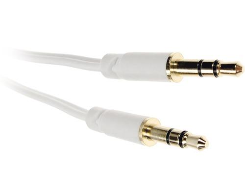 Ljudsladd 3,5mm - 3,5mm 1,5m vit