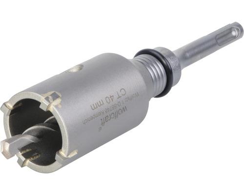 Hålsåg WOLFCRAFT i hårdmetall Ø 40mm M16 med spänndorn SDS-plus och centrumborr