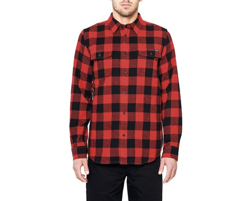Flanellskjorta DEPALMA Buffalo röd strl. S