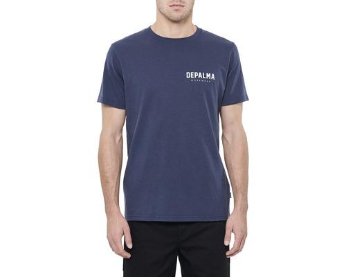 T-Shirt DEPALMA Logo mörkblå strl. L