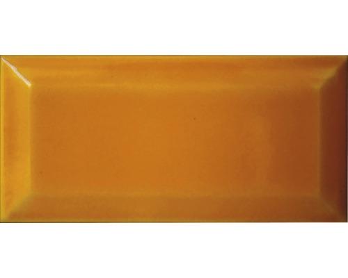Kakel Mustard fasad 7,5x15cm gul blank