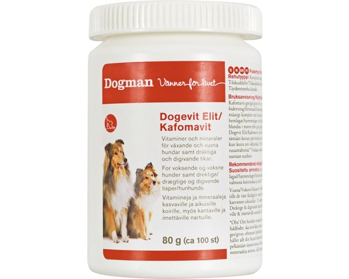 Vitamintillskott Dogevit Elit/Kafomavit 200st
