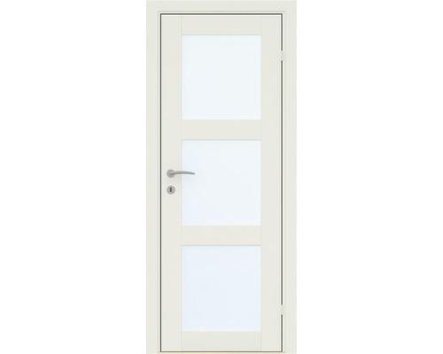 Innerdörr Finess 3-spegel klarglas vit 8x21