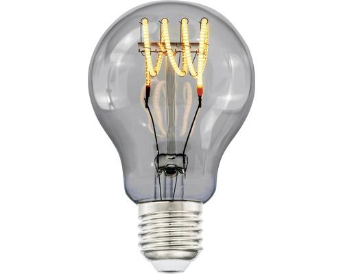 LED-lampa COTTEX Curly filament smoke E27, 4W 150lm stepdim