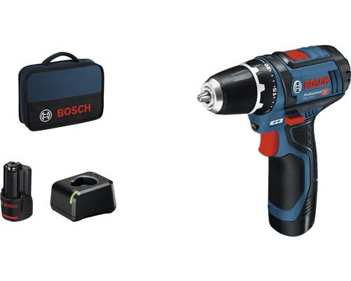 Skruvdragare BOSCH GSR 12V-15, inkl. 2st batterier 2.0Ah, laddare och väska