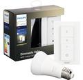 Ljuskälla PHILIPS Hue White E27 9,5W 806lm 2700K inkl. 1 ljuskälla med trådlös dimmer - kompatibel med SMART HOME by hornbach